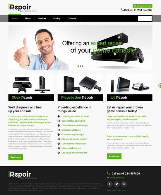 Computer Repair Website Template Inspirational 20 Best It Pany Website Templates 2018 Freshdesignweb