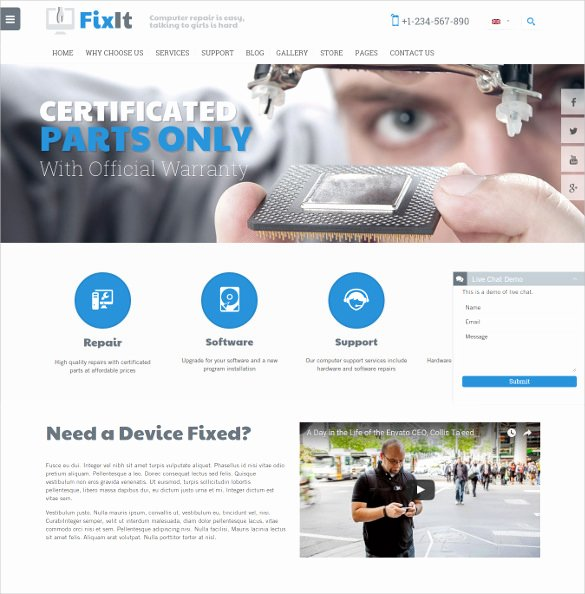 Computer Repair Website Template Luxury 28 Puter Repair Website themes & Templates