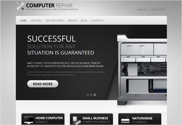 Computer Repair Website Template New Giveaway 3 Stunning Motocms HTML Templates for Free