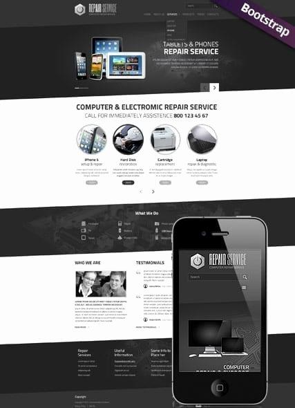 Computer Repair Website Template New Pc Repair Service Web Template