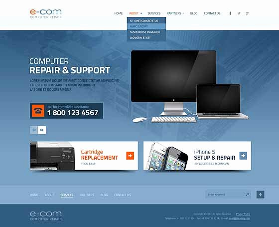 Computer Repair Website Template Unique Puter Repair Website Templates Pc Repair themes