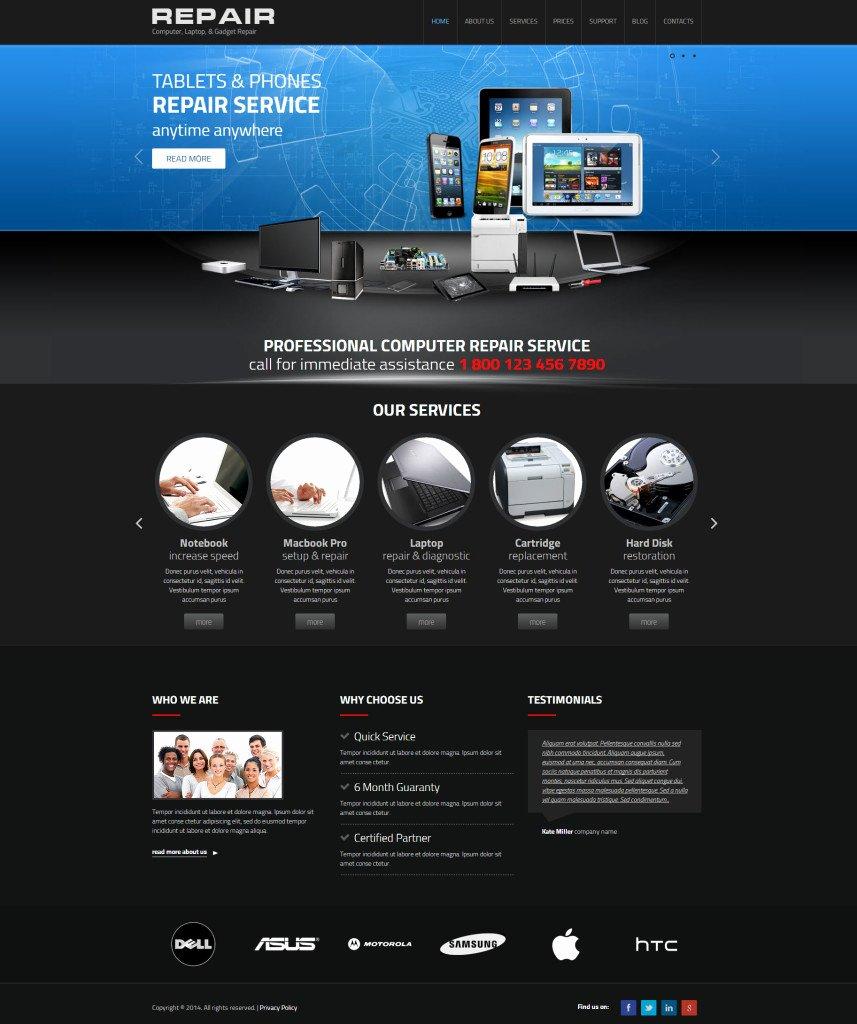 Computer Repair Website Template Unique Web I Templates