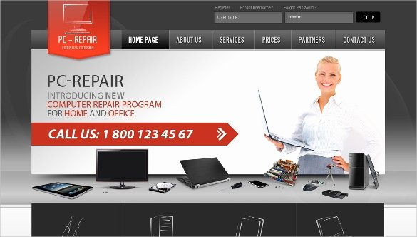 Computer Repairs Website Template Awesome 28 Puter Repair Website themes & Templates