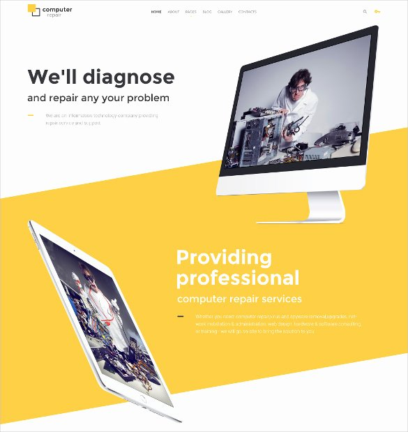 Computer Repairs Website Template Best Of 28 Puter Repair Website themes & Templates