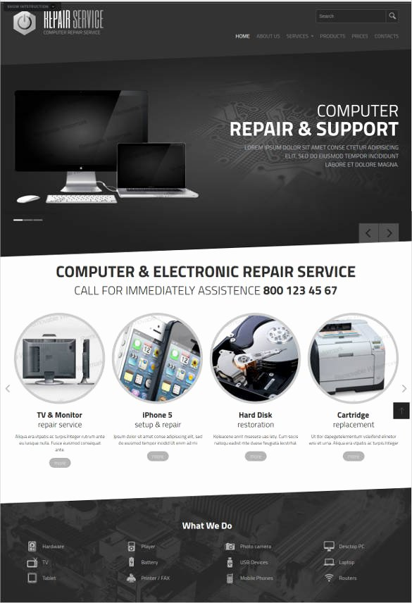 Computer Repairs Website Template Inspirational 28 Puter Repair Website themes & Templates