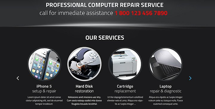 Computer Repairs Website Template Lovely Puter Repair Wordpress theme Pc Repair Template