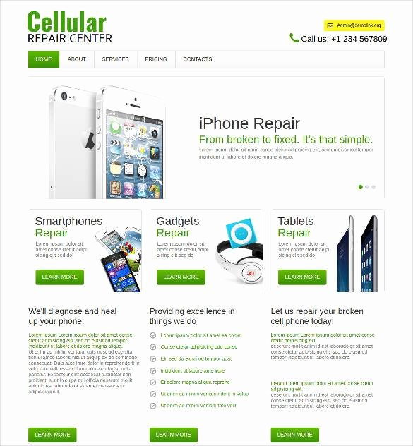 Computer Repairs Website Template Luxury 28 Puter Repair Website themes & Templates
