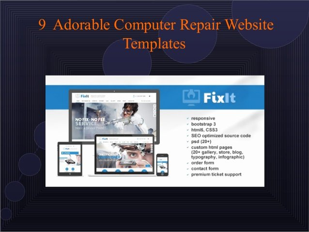 Computer Repairs Website Template New 9 attractive Puter Repair Website Templates