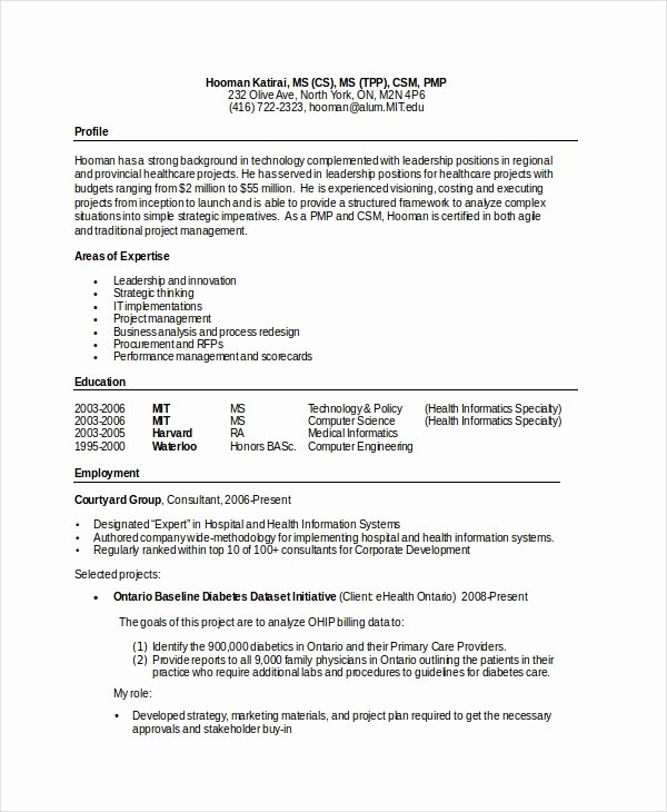 Computer Science Resume Template Awesome Puter Science Resume Example 9 Free Word Pdf