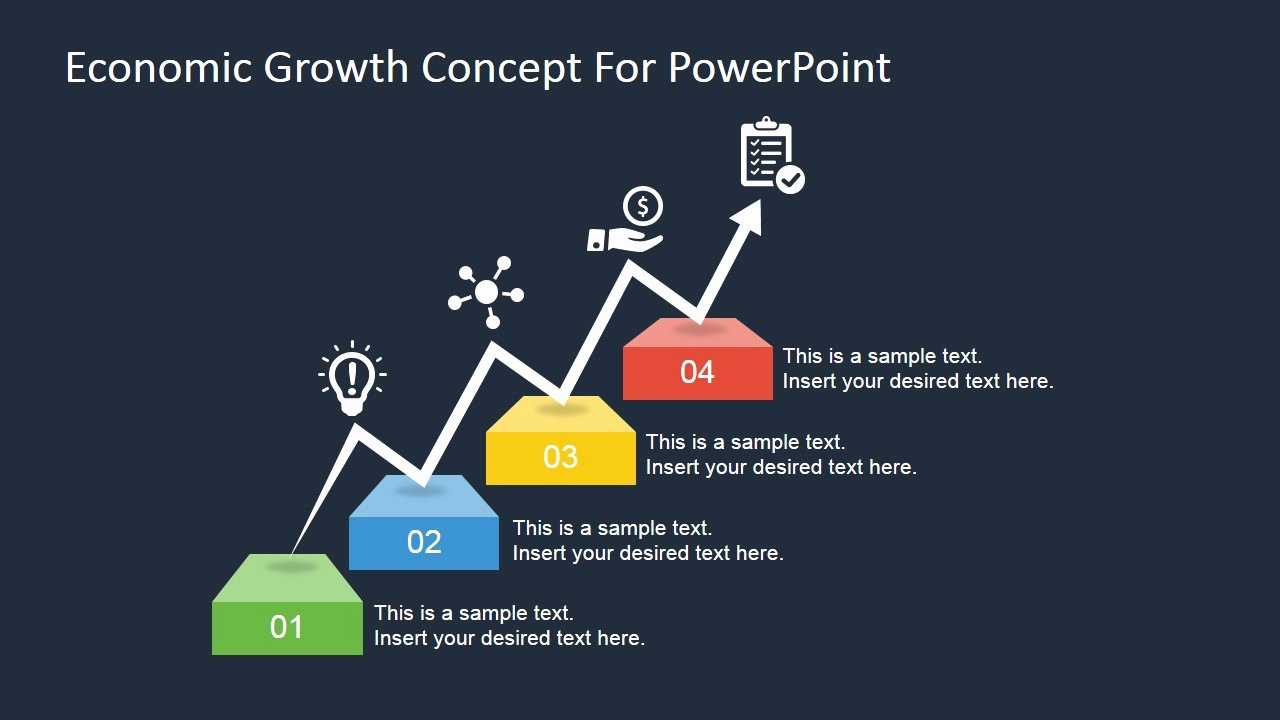 Concept Map Template Powerpoint Awesome Economic Growth Concept for Powerpoint Slidemodel