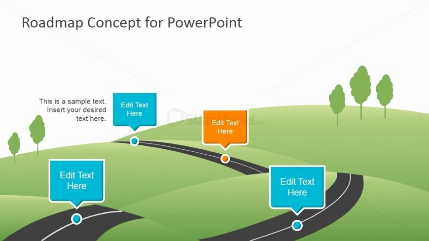 Concept Map Template Powerpoint Beautiful 6956 01 Roadmap Concept for Powerpoint 2 Slidemodel