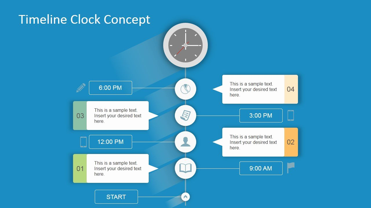 Concept Map Template Powerpoint Beautiful Timeline Clock Concept for Powerpoint Slidemodel