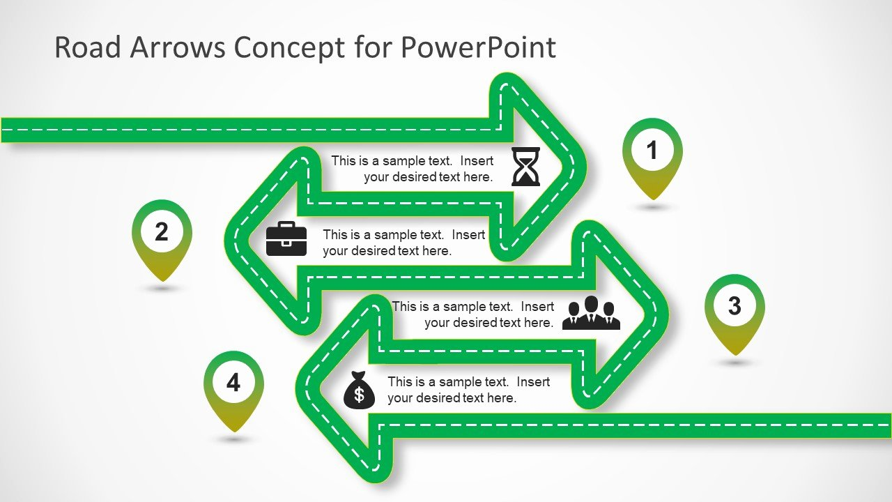 Concept Map Template Powerpoint Best Of Road Arrows Concept for Powerpoint Slidemodel