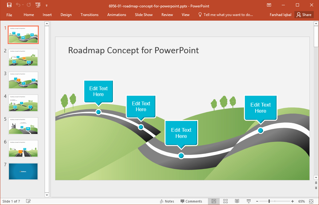 Concept Map Template Powerpoint Lovely Best Roadmap Templates for Powerpoint