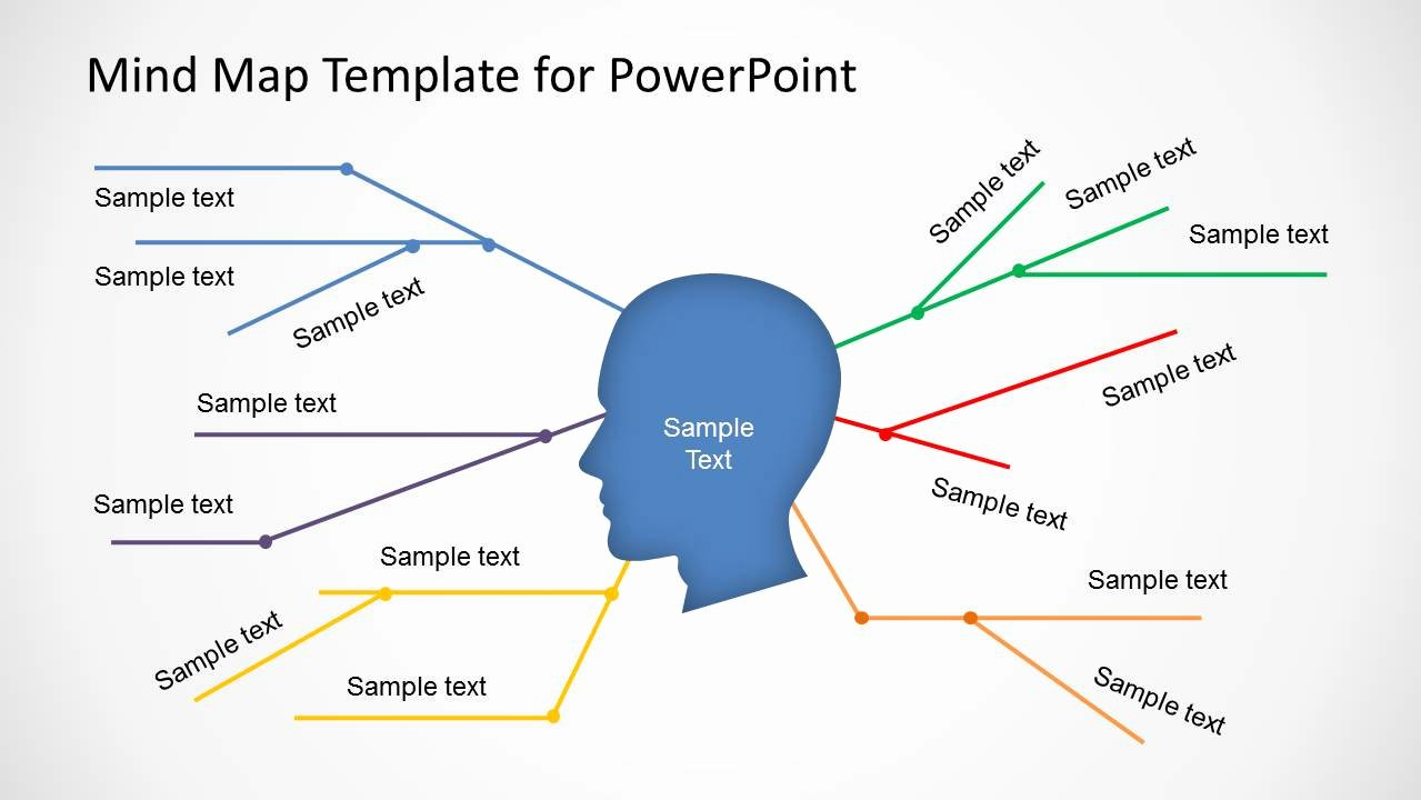 Concept Map Template Powerpoint New Simple Mind Map Template for Powerpoint Slidemodel