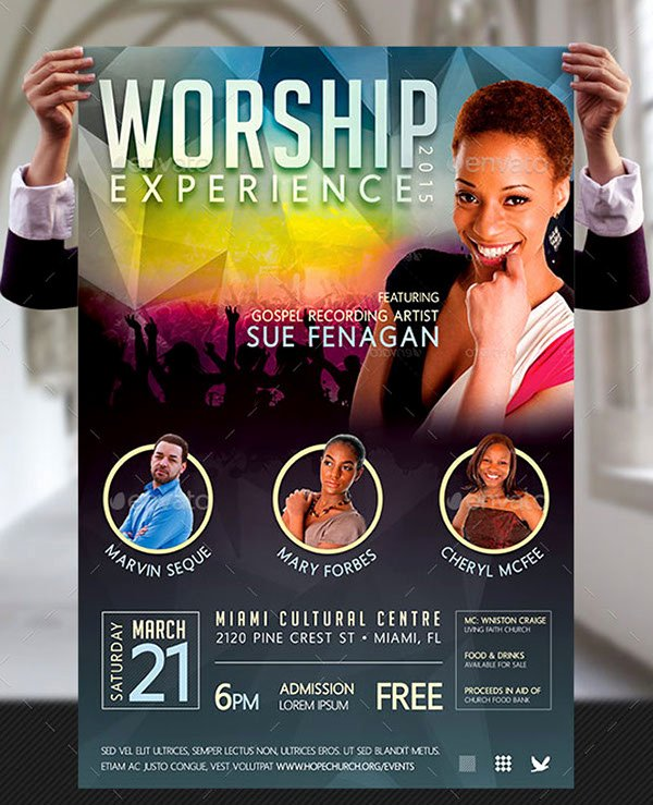 Concert Flyer Template Free Best Of Worship Concert Poster Templates On Behance