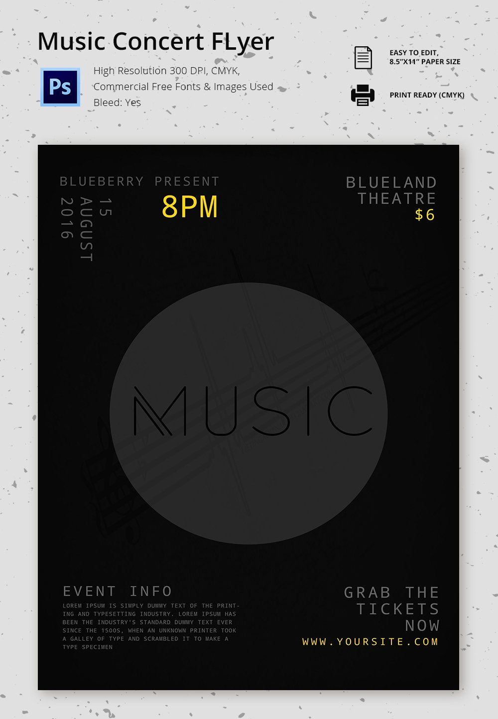 Concert Flyer Template Free Inspirational Concert Flyer Template 48 Psd format Download