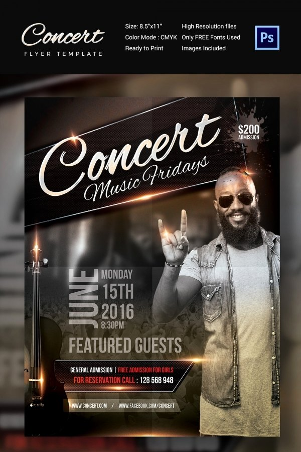 Concert Flyer Template Free New Concert Flyer Template 35 Psd format Download