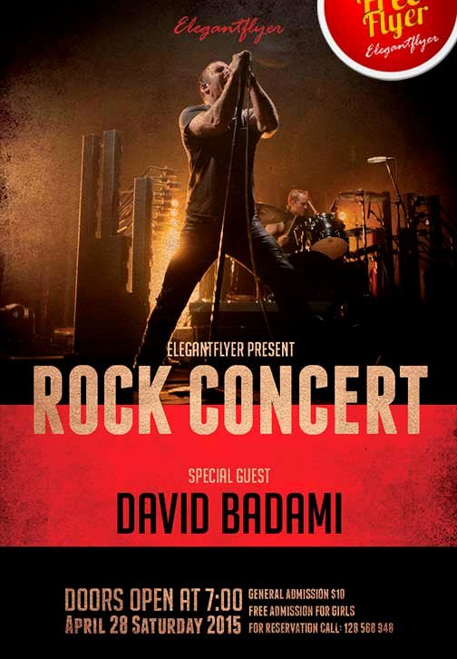 Concert Flyer Template Free Unique Download the Free Rock Concert Free Flyer Template for