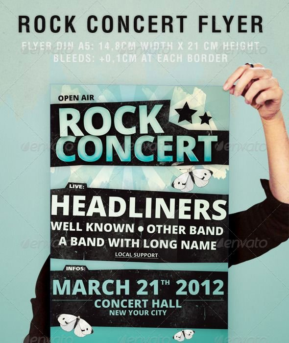 Concert Flyer Template Free Unique Rock Concert Flyer