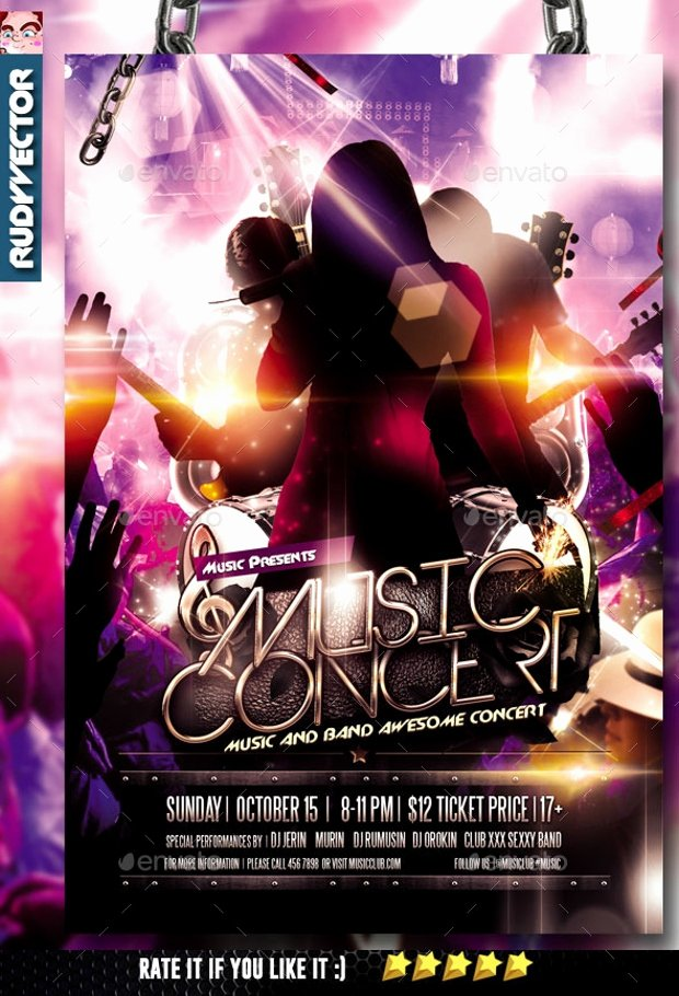 Concert Flyers Template Free Awesome 19 Band Flyer Templates Printable Psd Ai Vector Eps