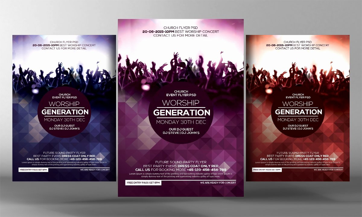Concert Flyers Template Free Awesome Worship Concert Flyer Template Flyer Templates