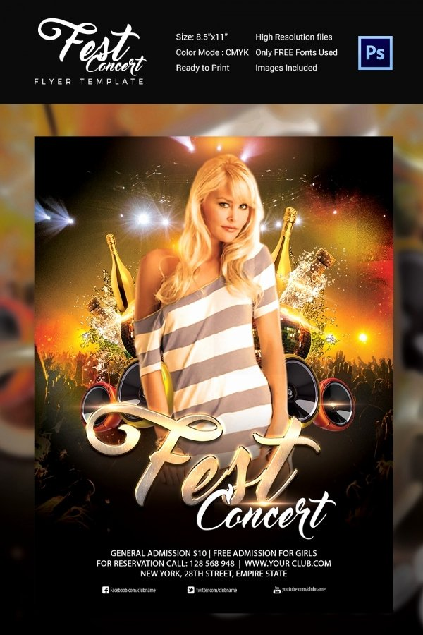 Concert Flyers Template Free Luxury Concert Flyer Template 48 Psd format Download