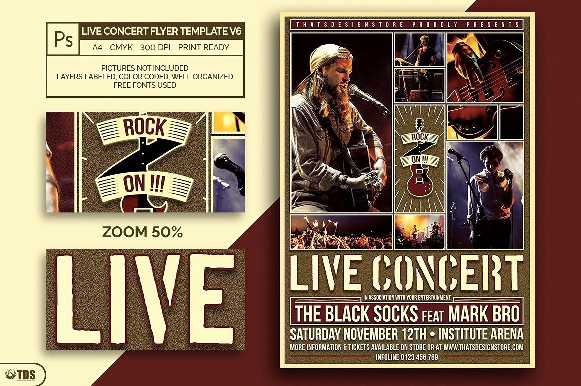 Concert Flyers Template Free Luxury Live Concert Flyer Template V6