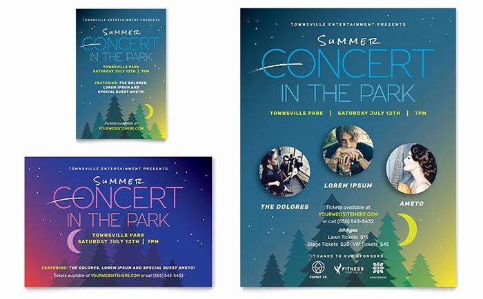 Concert Press Release Template Lovely Summer Concert Flyer & Ad Template Design