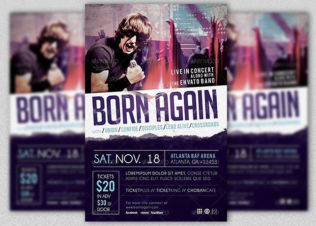 Concert Press Release Template Luxury Gospel Rock Band Concert Flyer Template