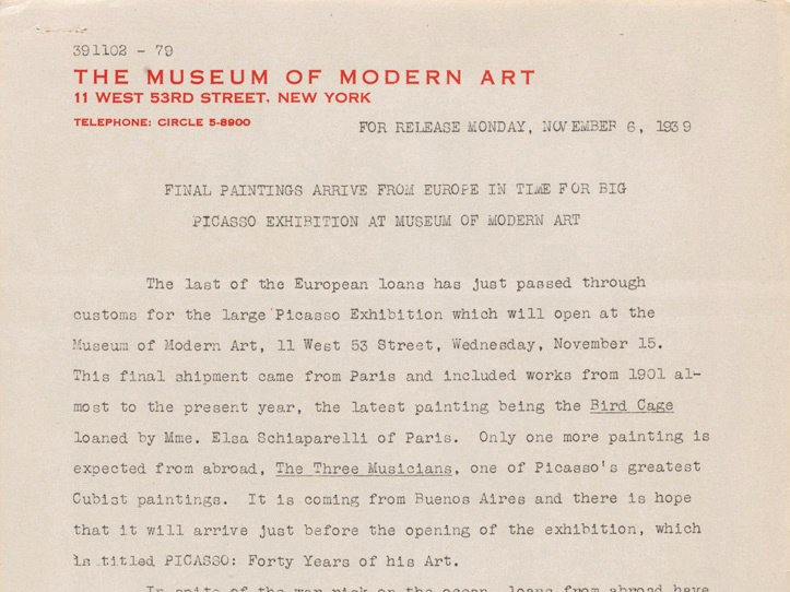 Concert Press Release Template Luxury Moma Press Release Archives 1929–97
