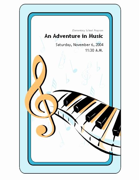 Concert Program Template Free Beautiful School Concert event Program Templates
