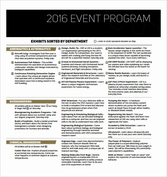 Concert Program Template Free Unique 38 event Program Templates Pdf Doc