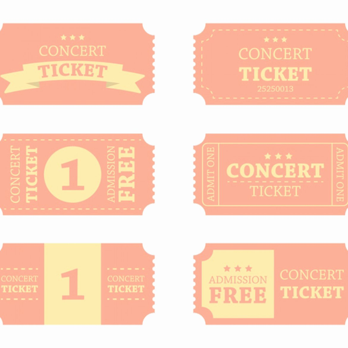 Concert Ticket Template Free Beautiful Blank Concert Ticket Template Clipart Best