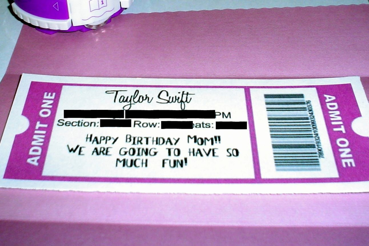 Concert Ticket Template Free Beautiful Lovely Taylor Swift Concert Ticket Template for Birthday