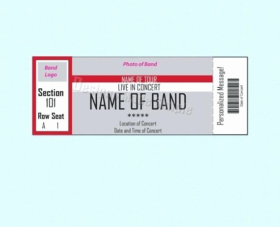 Concert Ticket Template Free Best Of Basketball Ticket Template