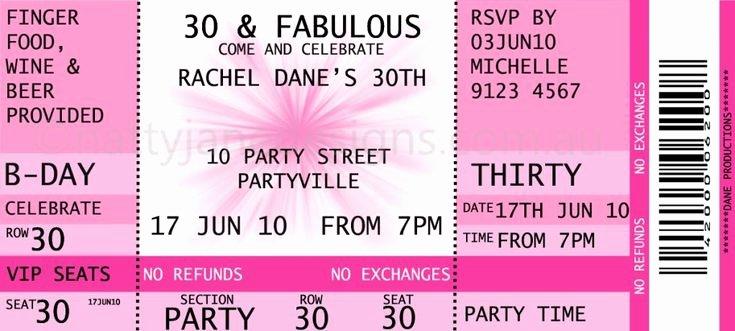 Concert Ticket Template Free Elegant Concert Ticket Invitations Template Free