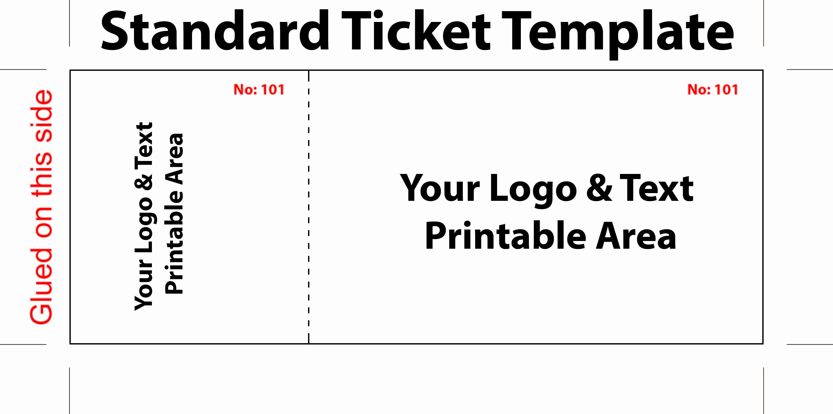 Concert Ticket Template Free Fresh Free Editable Standard Ticket Template Example for Concert