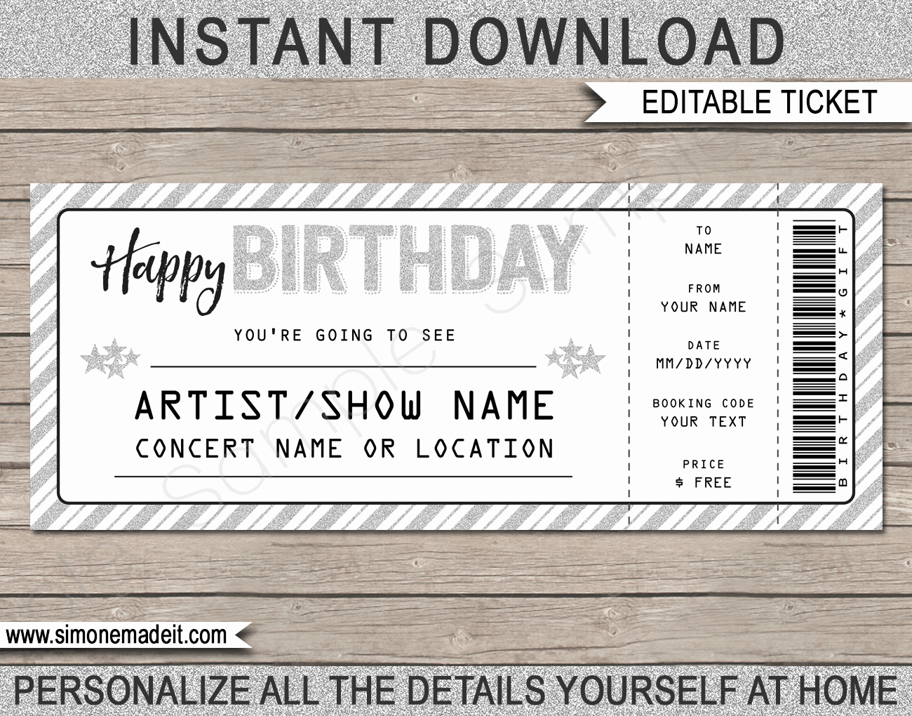 Concert Ticket Template Free Fresh Printable Concert Ticket Template