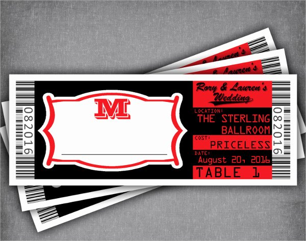 Concert Ticket Template Free Lovely 16 Concert Ticket Templates Psd Vector Eps