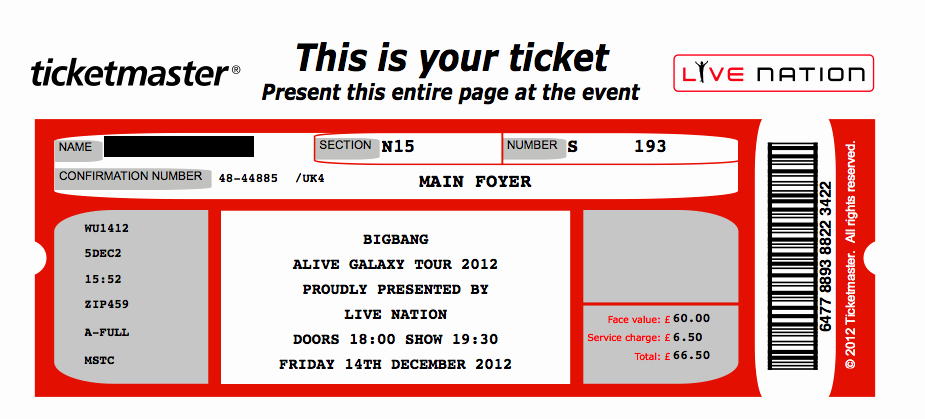 Concert Ticket Template Free Lovely Printable Concert Ticket Template