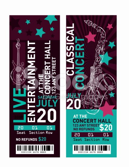 Concert Ticket Template Free Unique 11 Concert Ticket Templates In Psd for Shop