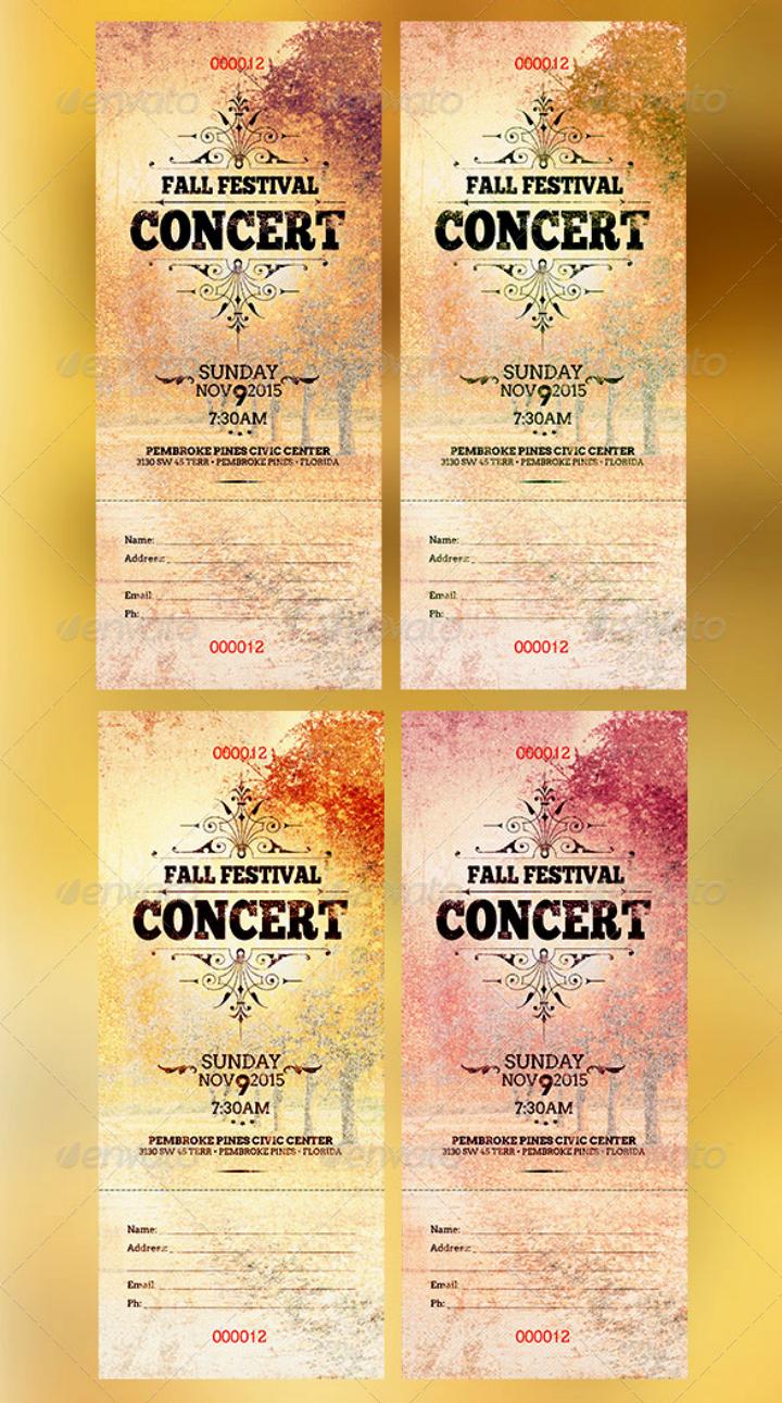 Concert Ticket Template Free Unique 11 Concert Ticket Templates
