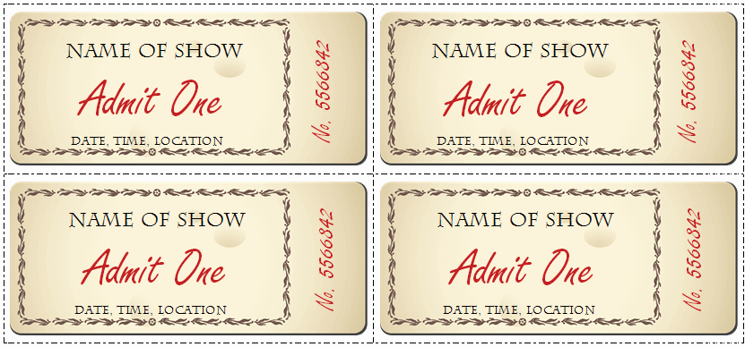 Concert Ticket Template Free Unique 6 Ticket Templates for Word to Design Your Own Free Tickets