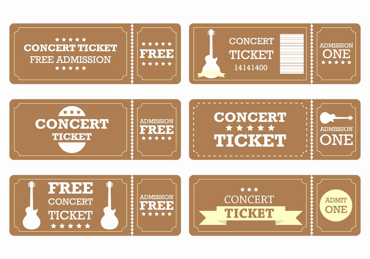 Concert Ticket Template Word Elegant Brown Ticket Download Free Vector Art Stock Graphics