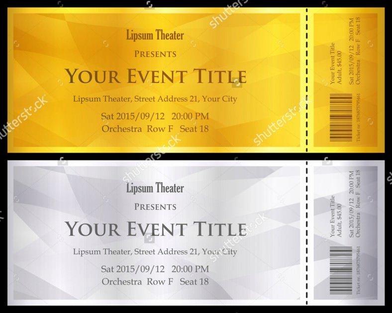 Concert Ticket Template Word Fresh 11 Ticket Voucher Template Psd Eps