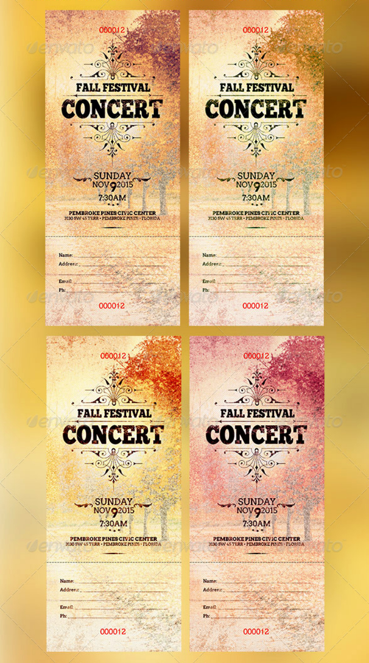 Concert Tickets Template Free Awesome 11 Concert Ticket Templates