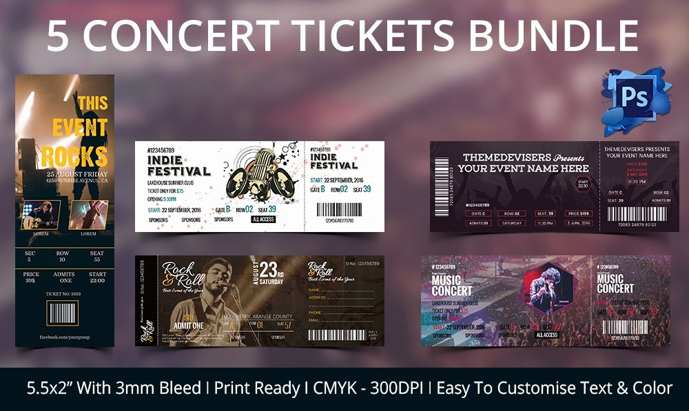 Concert Tickets Template Free Best Of Ticket Template – 91 Free Word Excel Pdf Psd Eps