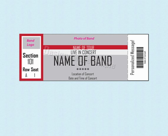 Concert Tickets Template Free Elegant 26 Cool Concert Ticket Template Examples for Your event