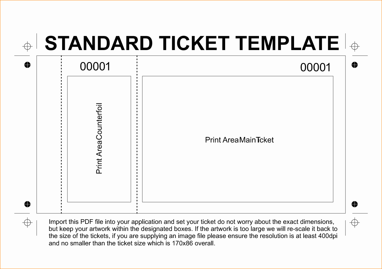Concert Tickets Template Free Elegant 36 Editable Blank Ticket Template Examples for event Thogati